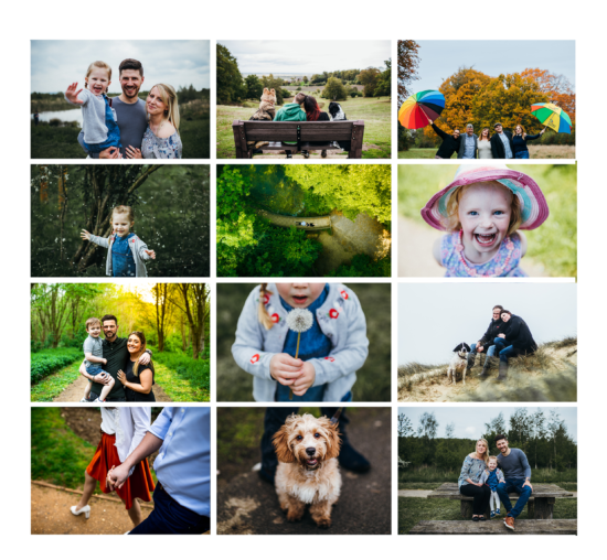 outdoor family shoots